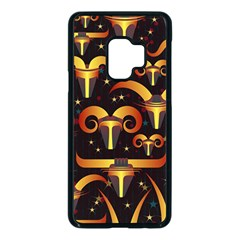 Stylised Horns Black Pattern Samsung Galaxy S9 Seamless Case(black)