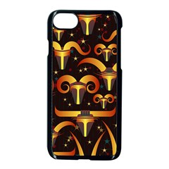Stylised Horns Black Pattern Iphone 8 Seamless Case (black) by HermanTelo