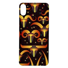 Stylised Horns Black Pattern Iphone X/xs Soft Bumper Uv Case