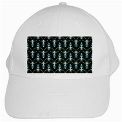 Seamless Pattern Background Black White Cap by HermanTelo