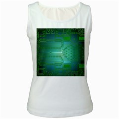Board Conductors Circuits Women s White Tank Top by HermanTelo