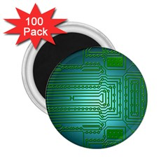 Board Conductors Circuits 2 25  Magnets (100 Pack)  by HermanTelo
