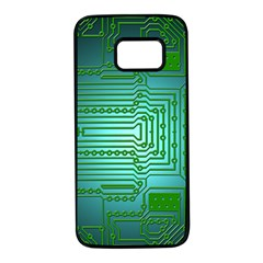 Board Conductors Circuits Samsung Galaxy S7 Black Seamless Case by HermanTelo