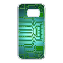 Board Conductors Circuits Samsung Galaxy S7 White Seamless Case by HermanTelo