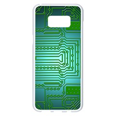 Board Conductors Circuits Samsung Galaxy S8 Plus White Seamless Case by HermanTelo