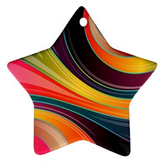 Abstract Colorful Background Wavy Ornament (star) by HermanTelo