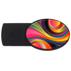 Abstract Colorful Background Wavy Usb Flash Drive Oval (2 Gb) by HermanTelo