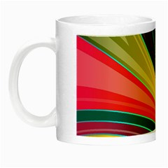 Abstract Colorful Background Wavy Night Luminous Mugs by HermanTelo