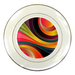 Abstract Colorful Background Wavy Porcelain Plates by HermanTelo