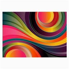 Abstract Colorful Background Wavy Large Glasses Cloth by HermanTelo