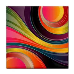 Abstract Colorful Background Wavy Face Towel by HermanTelo
