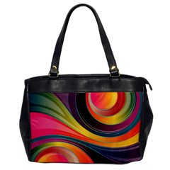 Abstract Colorful Background Wavy Oversize Office Handbag by HermanTelo