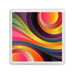 Abstract Colorful Background Wavy Memory Card Reader (square) by HermanTelo