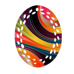 Abstract Colorful Background Wavy Ornament (oval Filigree) by HermanTelo