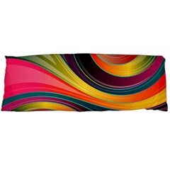Abstract Colorful Background Wavy Body Pillow Case (dakimakura) by HermanTelo