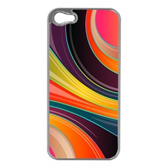 Abstract Colorful Background Wavy Iphone 5 Case (silver) by HermanTelo