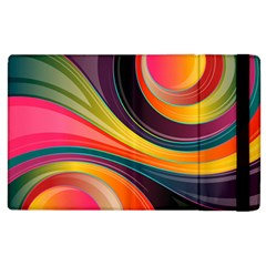 Abstract Colorful Background Wavy Apple Ipad 2 Flip Case by HermanTelo