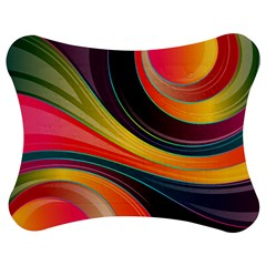 Abstract Colorful Background Wavy Jigsaw Puzzle Photo Stand (bow) by HermanTelo