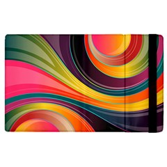 Abstract Colorful Background Wavy Apple Ipad Pro 12 9   Flip Case