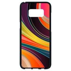 Abstract Colorful Background Wavy Samsung Galaxy S8 Black Seamless Case