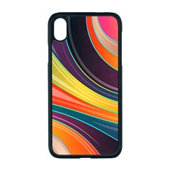 Abstract Colorful Background Wavy Iphone Xr Seamless Case (black)