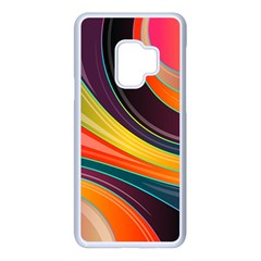 Abstract Colorful Background Wavy Samsung Galaxy S9 Seamless Case(white)