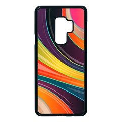 Abstract Colorful Background Wavy Samsung Galaxy S9 Plus Seamless Case(black) by HermanTelo