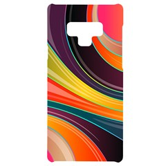 Abstract Colorful Background Wavy Samsung Note 9 Black Uv Print Case  by HermanTelo
