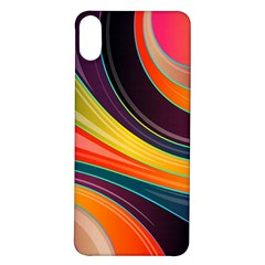 Abstract Colorful Background Wavy Iphone X/xs Soft Bumper Uv Case by HermanTelo