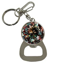 Abstract Texture Desktop Bottle Opener Key Chains by HermanTelo