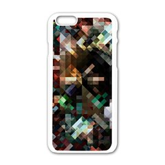 Abstract Texture Desktop Iphone 6/6s White Enamel Case