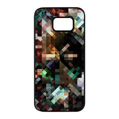 Abstract Texture Desktop Samsung Galaxy S7 Edge Black Seamless Case by HermanTelo