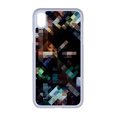 Abstract Texture Desktop Iphone Xr Seamless Case (white)
