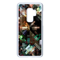 Abstract Texture Desktop Samsung Galaxy S9 Plus Seamless Case(white) by HermanTelo