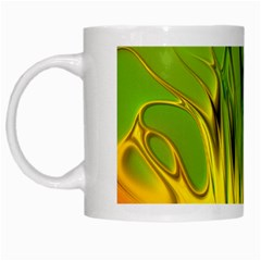Abstract Pattern Lines Wave White Mugs by HermanTelo