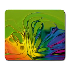 Abstract Pattern Lines Wave Large Mousepads by HermanTelo