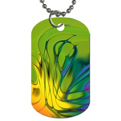 Abstract Pattern Lines Wave Dog Tag (two Sides) by HermanTelo