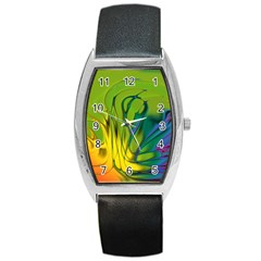 Abstract Pattern Lines Wave Barrel Style Metal Watch by HermanTelo