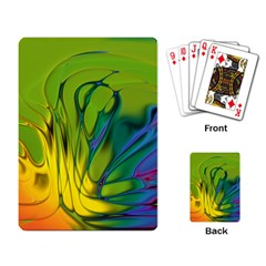 Abstract Pattern Lines Wave Playing Cards Single Design by HermanTelo