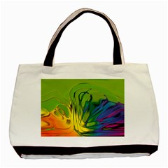 Abstract Pattern Lines Wave Basic Tote Bag (two Sides) by HermanTelo