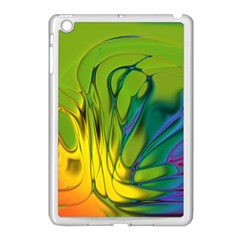Abstract Pattern Lines Wave Apple Ipad Mini Case (white) by HermanTelo
