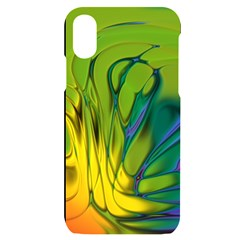 Abstract Pattern Lines Wave Iphone X/xs Black Uv Print Case