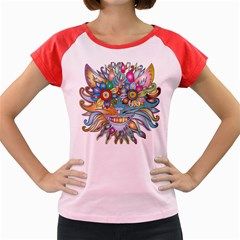 Anthropomorphic Flower Floral Plant Women s Cap Sleeve T-shirt