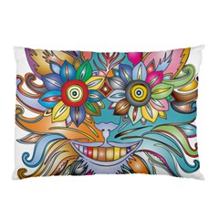 Anthropomorphic Flower Floral Plant Pillow Case (two Sides)