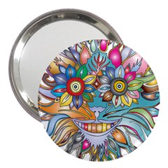 Anthropomorphic Flower Floral Plant 3  Handbag Mirrors
