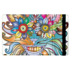 Anthropomorphic Flower Floral Plant Apple Ipad Mini 4 Flip Case by HermanTelo