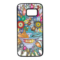 Anthropomorphic Flower Floral Plant Samsung Galaxy S7 Black Seamless Case by HermanTelo