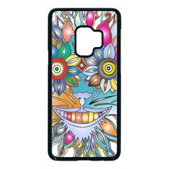 Anthropomorphic Flower Floral Plant Samsung Galaxy S9 Seamless Case(black)