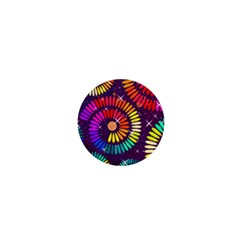 Abstract Background Spiral Colorful 1  Mini Magnets by HermanTelo