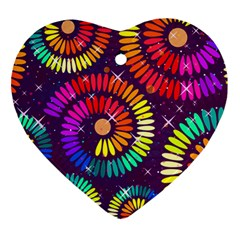 Abstract Background Spiral Colorful Ornament (heart)